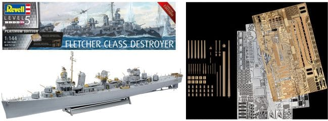 Revell 05150 Fletcher Class Destroyer | Platinum Edition | Schiff Bausatz 1:144