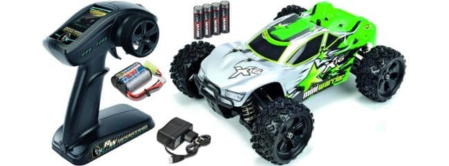 CARSON 500404065 X16 Mini Warrior Truggy Brushed 2.4GHz RTR RC Auto 1:16