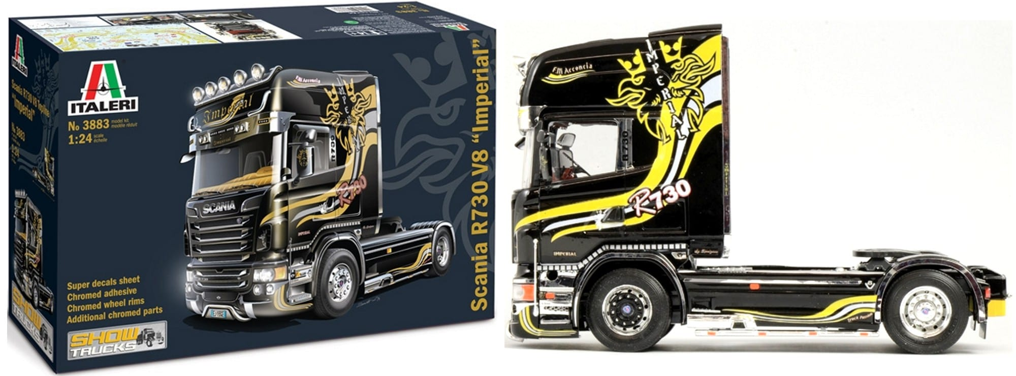 italeri 3883 scania r730 v8 imperial lkw bausatz 1 24. Black Bedroom Furniture Sets. Home Design Ideas