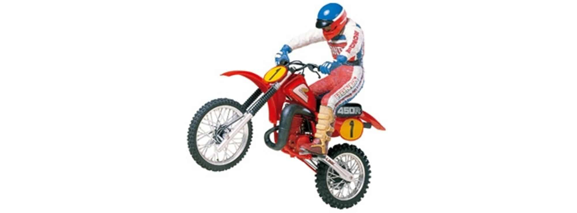 ausverkauft tamiya 14018 honda cr450r motocross w rider. Black Bedroom Furniture Sets. Home Design Ideas