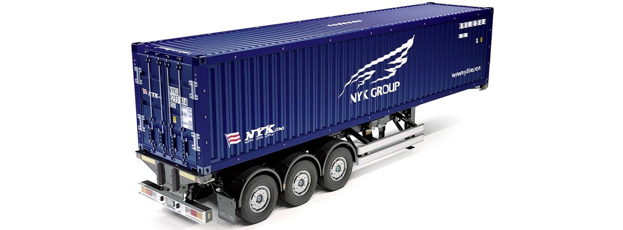 tamiya 56330 40 fu container auflieger nyk 1 14 f r rc truck online kaufen bei modellbau h rtle. Black Bedroom Furniture Sets. Home Design Ideas