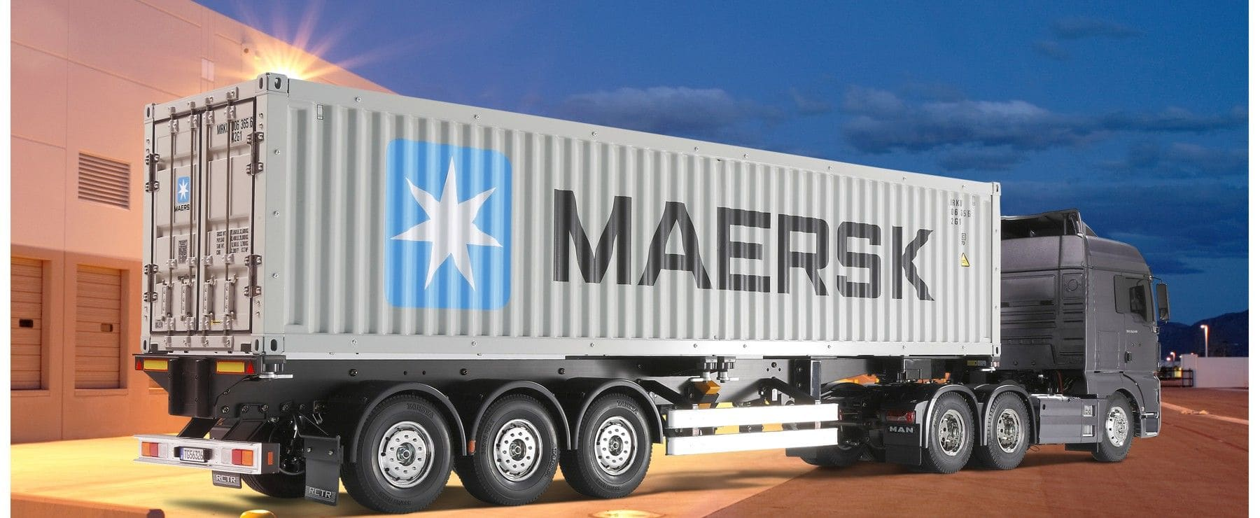 tamiya 56326 40 fu container auflieger maersk 1 14 f r rc truck online kaufen bei modellbau. Black Bedroom Furniture Sets. Home Design Ideas