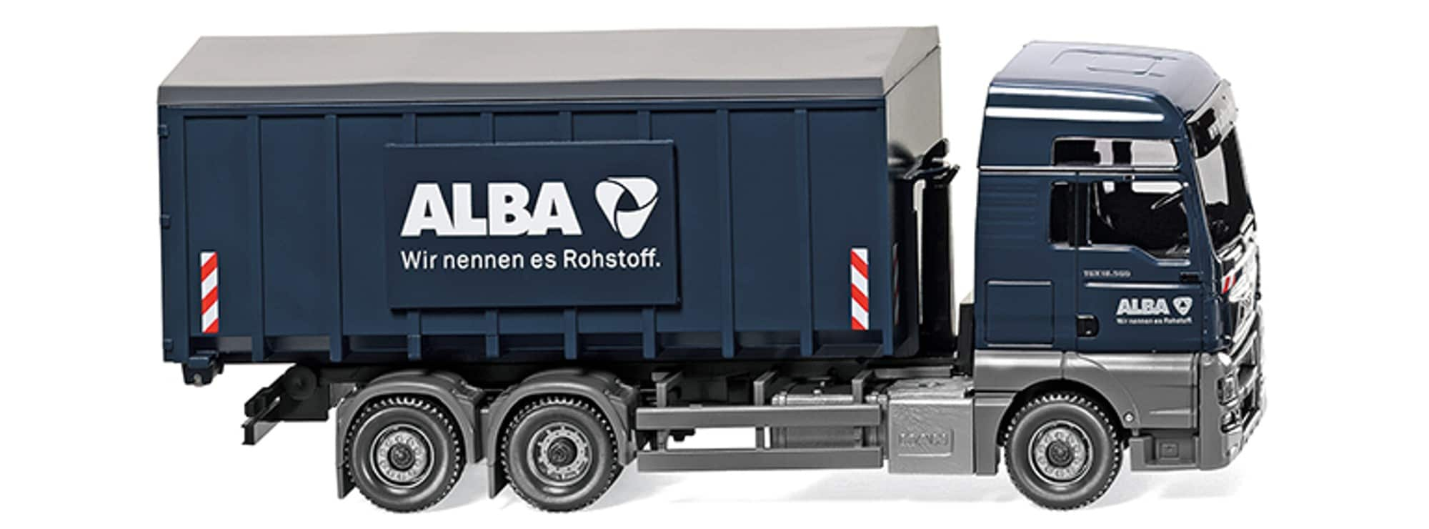 wiking 067204 man tgx euro 6 abrollcontainer lkw modell. Black Bedroom Furniture Sets. Home Design Ideas